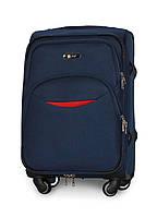 Малый чемодан 54х35х22 Ручная кладь на 4 колесах Fly 1708 Темно-синий