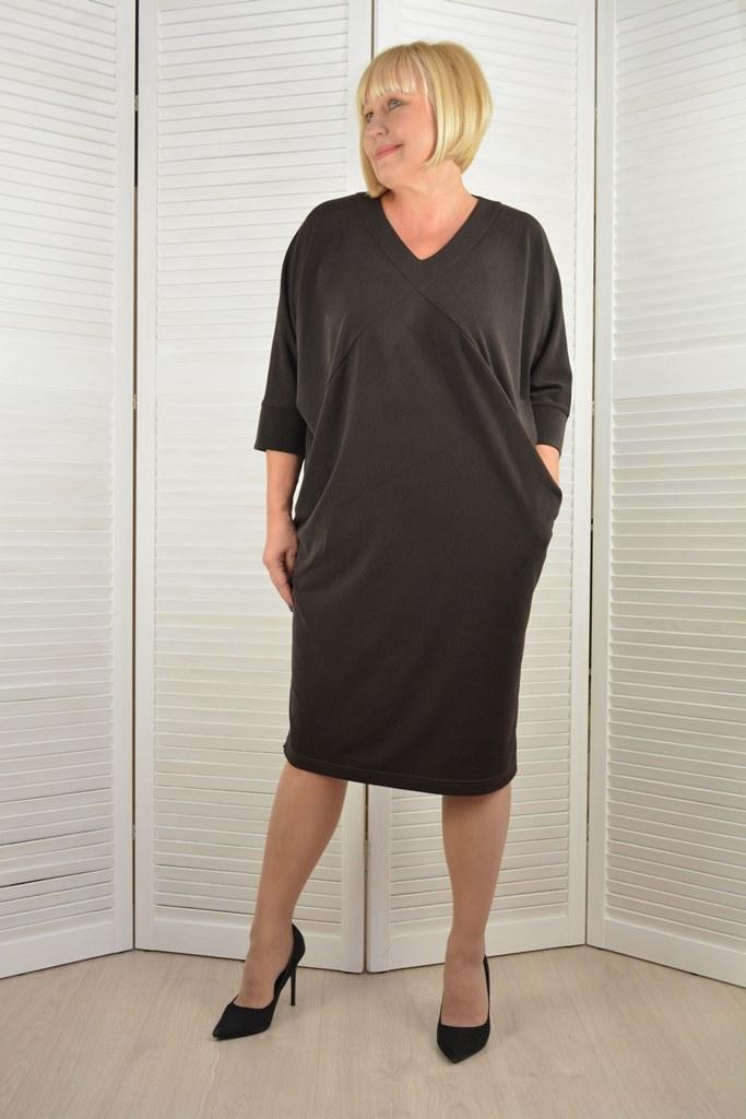 Платье шоколадное - Модель Л624-1