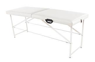 Массажный стол (косметологическая кушетка)  Ukrestet Standart, белый, CS, складной, 2-секционный