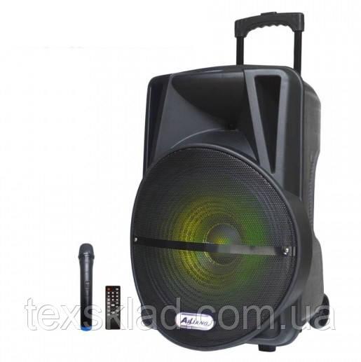 Акумуляторная колонка с микрофоном UF-AR-12QK 150W (FM/USB/Bluetooth)/видео обзор