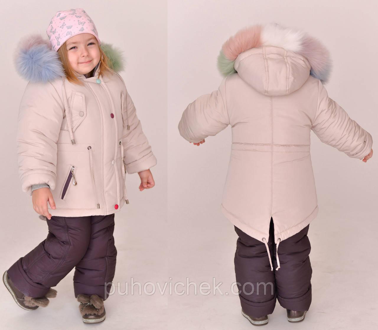 Детский комбинезон для девочки зима 2020 очень теплый