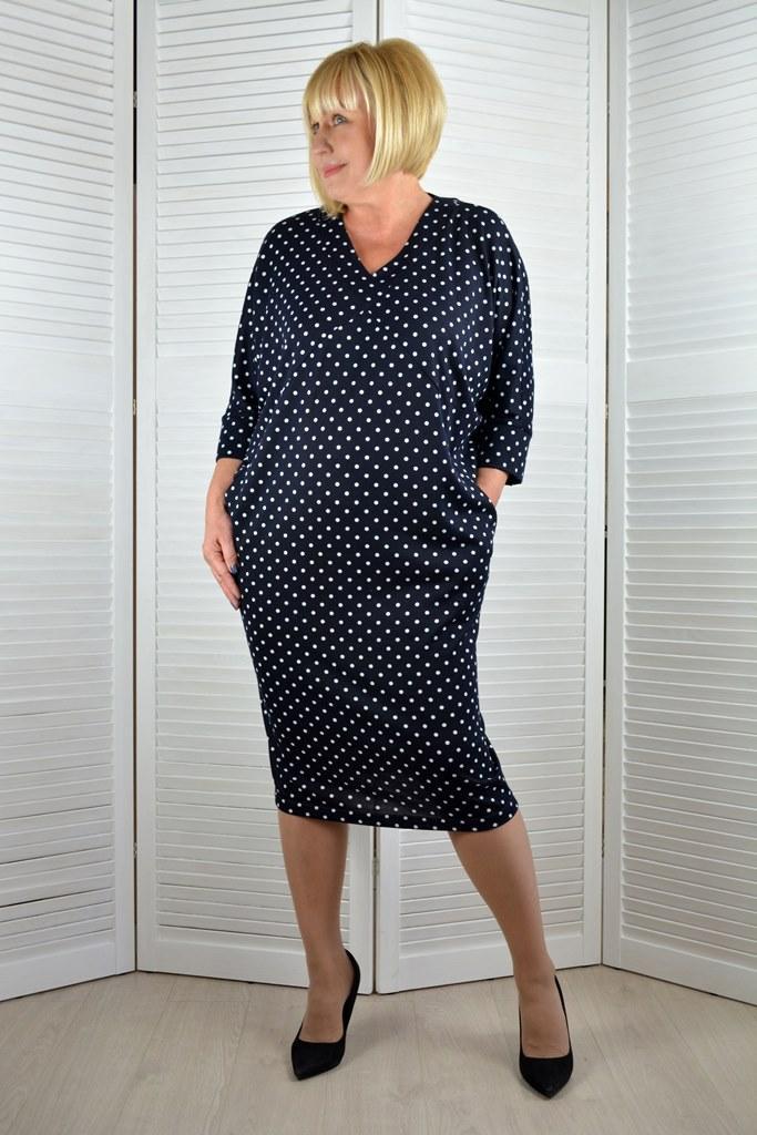 Платье в горошек - Модель Л624-2