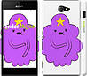 "Чехол на Sony Xperia M2 dual D2302 Принцесса Пупырка. Adventure Time. Lumpy Space Princess v2 ""1221c-61"""