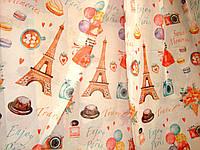 """Тюль детская """"Парижанка"""" в комнату девочки, шифон, высота 2,9 м"""