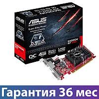 Видеокарта Radeon R7 240, Asus, 4 Гб DDR3, 128-bit (R7240-OC-4GD3-L), низкопрофильная, відеокарта