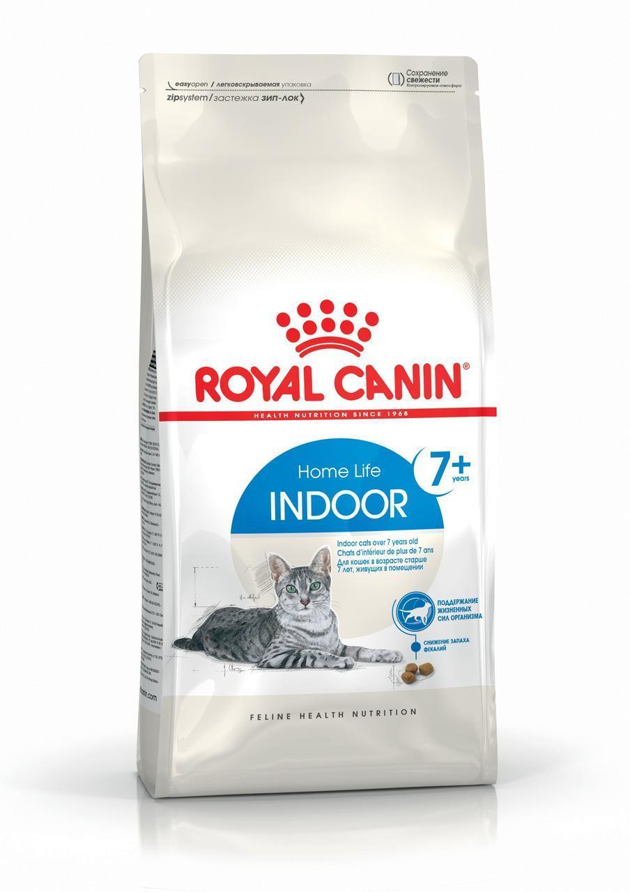 Сухой корм для кошек старше 7 лет живущих в помещении Royal Canin Indoor 7+ 400 г