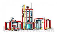 """Конструктор Bela 10831 (аналог Lego City 60110) """"Пожарная часть"""", 958 дет, фото 3"""