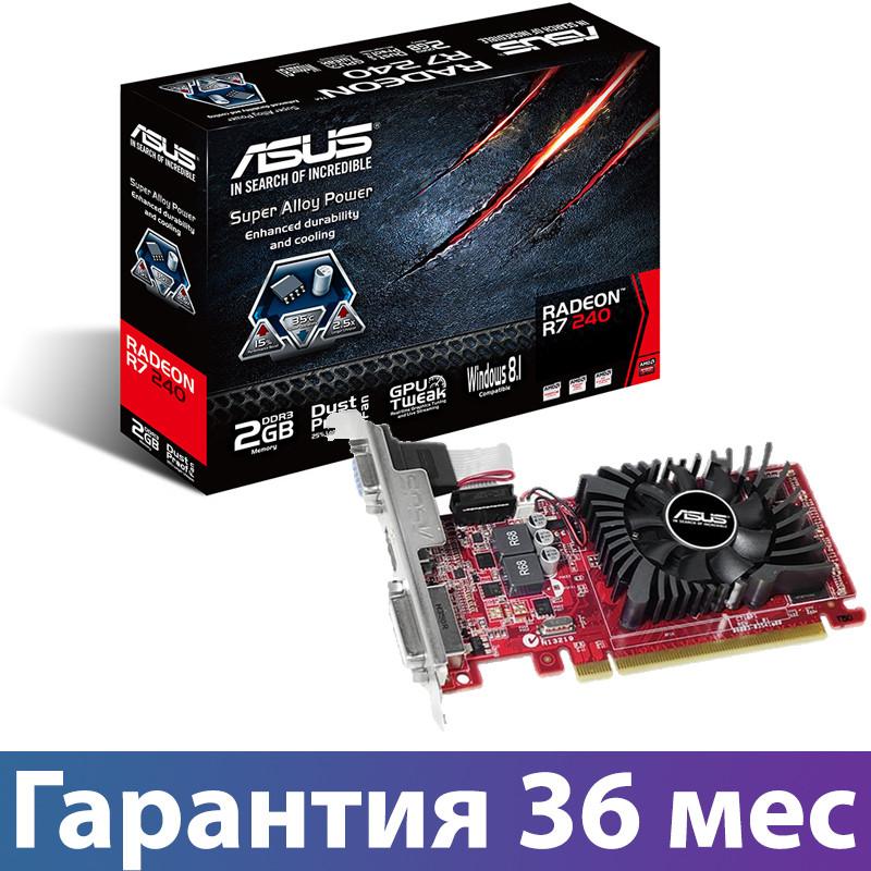 Видеокарта Radeon R7 240, Asus, 2 Гб DDR3, 128-bit (R7240-2GD3-L), низкопрофильная, відеокарта