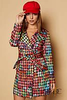 Стильный женский плащ Domenica с яркой модной расцветкой (мульти-колор принт, р.S-XXXL)