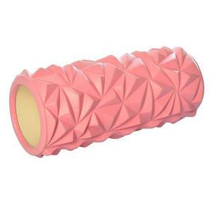 Массажный валик (ролик) Розовый (33х14 см) - MS 2521-P