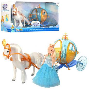 Игровой набор Карета с лошадью и принцессой 258A