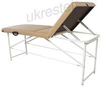 """Массажный стол (косметологическая кушетка)  Ukrestet """"Standart"""", складной, 3-секционный, бежевый, CTS"""