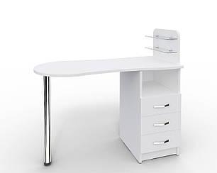 Маникюрный стол Markson Эстет №1, M101, c стеклянными полочками под лак