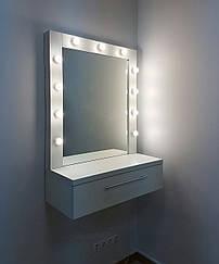 Туалетный столик М611, трюмо с зеркалом и подсветкой, белое