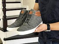 Зимние мужские кроссовки Vintage 8482 серые с коричневым, фото 1