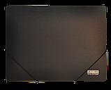 Папка на гумках А4 чорна BM3911-01, фото 3
