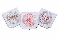 Коробки для пиццы, 280х280х37, с логотипом, белые, фото 1