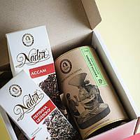 """Подарочный  чайно-кофейный  набор  для мужчин """"Черный чай """""""