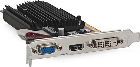 Видеокарта Radeon R5 230, Sapphire, 1 Гб DDR3, 64-bit, , Silent (11233-01-20G), низкопрофильная, відеокарта, фото 3