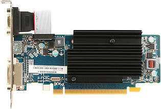 Видеокарта Radeon R5 230, Sapphire, 1 Гб DDR3, 64-bit, , Silent (11233-01-20G), низкопрофильная, відеокарта, фото 2
