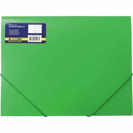 Папка пластиковая на резинках А4 зеленая BM3911-04