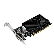 Видеокарта GeForce GT730, Gigabyte, 2 Гб DDR5, 64-bit (GV-N730D5-2GL), низкопрофильная, відеокарта, фото 2