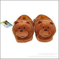 Плюшевые тапочки игрушки мишки