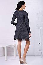 Меланжевое платье emeiy приталенного кроя с эффектом подъюбника из фатина, фото 2