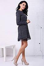Меланжевое платье emeiy приталенного кроя с эффектом подъюбника из фатина, фото 3