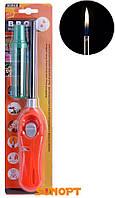 Бытовая зажигалка c блокировкой и регулированием пламени + баллончик с газом №300 AA-4