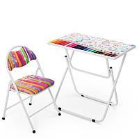 Детский столик и стульчик складной цвета разные