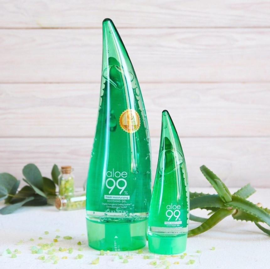 Гель успокаивающий и увлажняющий с алоэ HOLIKA Aloe 99% Soothing Gel 250 мл