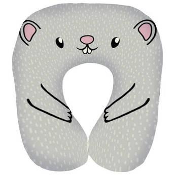 Подушка рожок подголовник Мышка Крыса Символ 2020 года