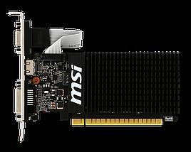 Видеокарта GeForce GT710, MSI, 1 Гб DDR3, 64-bit, Silent (GT 710 1GD3H LP), низкопрофильная, відеокарта, фото 3