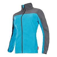 Куртка женская флисовая серо-синяя 40103 Lahti Pro, размер XL