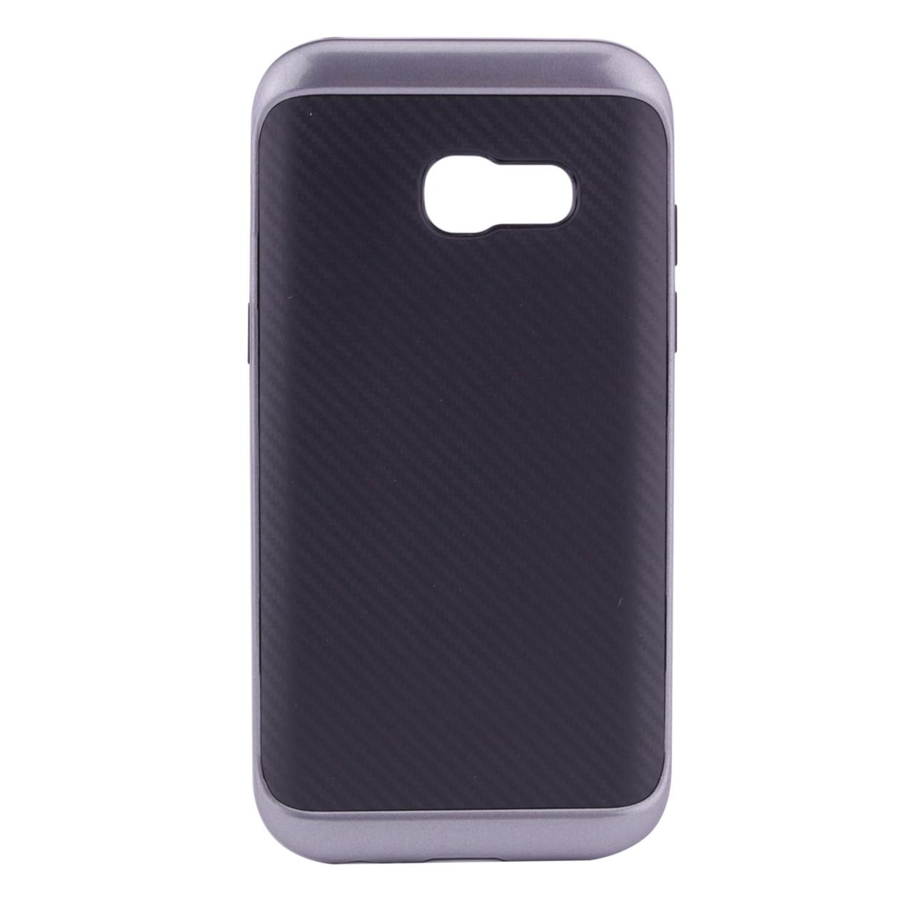 Чехол-накладка MOTOMO Carbon для Samsung A320 Galaxy A3 (2017) Серый