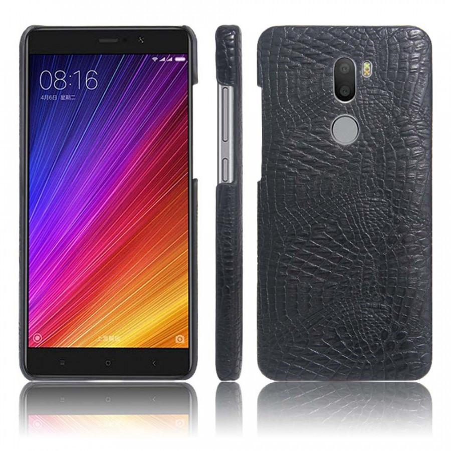Кожаный чехол-накладка с имитацией кожи крокодила для Xiaomi Mi 5s Plus Черный