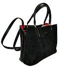 Женская сумка черная из натуральной замши Zara (23*30*13), фото 2