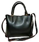 Женская сумка черная из натуральной замши Zara (23*30*13), фото 5
