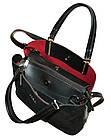 Женская сумка черная из натуральной замши Zara (23*30*13), фото 4