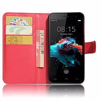 Чехол-книжка Litchie Wallet для Homtom HT16 / HT16 Pro Красный