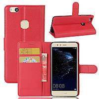 Чехол-книжка Litchie Wallet для Huawei P10 Lite Красный
