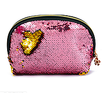 Косметичка розово-золотая