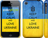 "Чехол на iPhone 3Gs Keep calm and love Ukraine v2 ""1114c-34"""