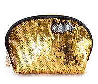 Косметичка серебристо-золотая