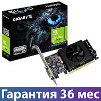 Видеокарта GeForce GT710, Gigabyte, 2 Гб DDR5, 64-bit (GV-N710D5-2GL), низкопрофильная, відеокарта