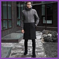 Мужское пальто PBV Soft Shell Coat Bali (Grey-Black), фото 1