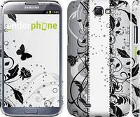 "Чехол на Samsung Galaxy Note 2 N7100 Цветочный узор 3 ""1582c-17"""