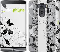 """Чехол на LG G3 dual D856 Цветочный узор 3 """"1582c-56"""""""