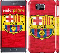 "Чехол на Samsung Galaxy Alpha G850F ФК Барселона 1 ""2301c-65"""